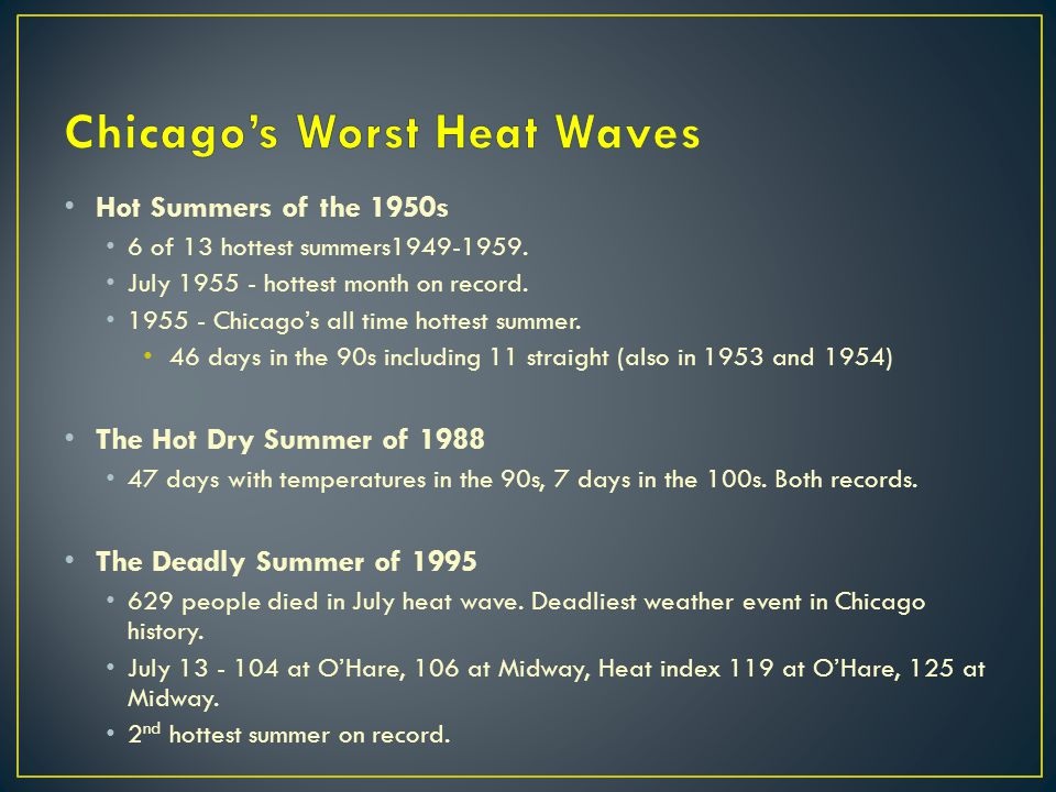 Chicago's Worst Heat Waves