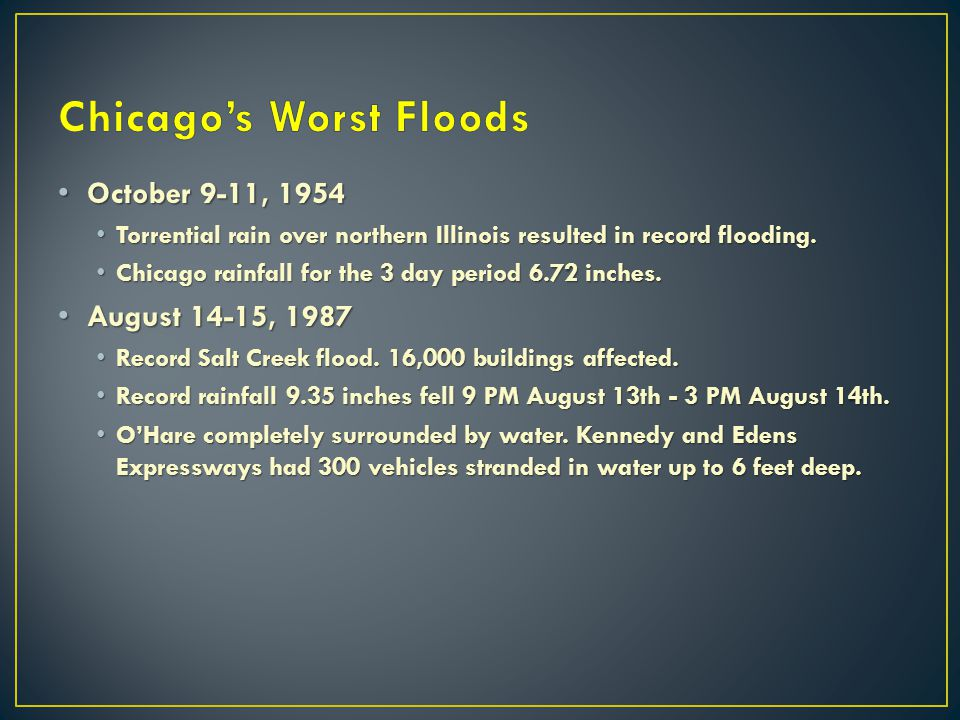 Chicago's Worst Floods