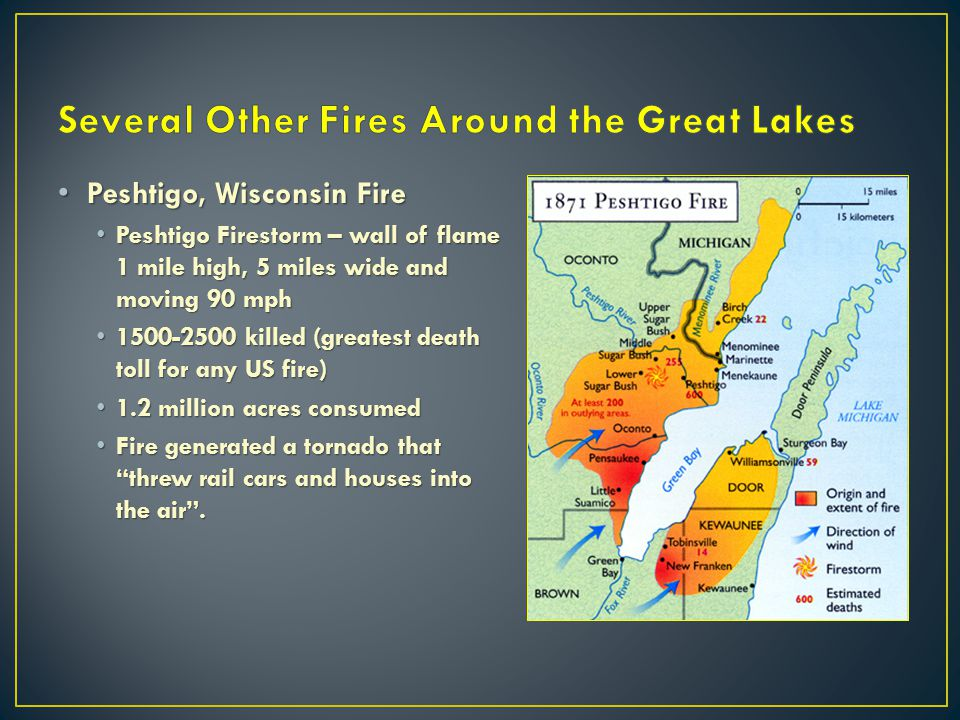 Several Other Fires Around the Great Lakes