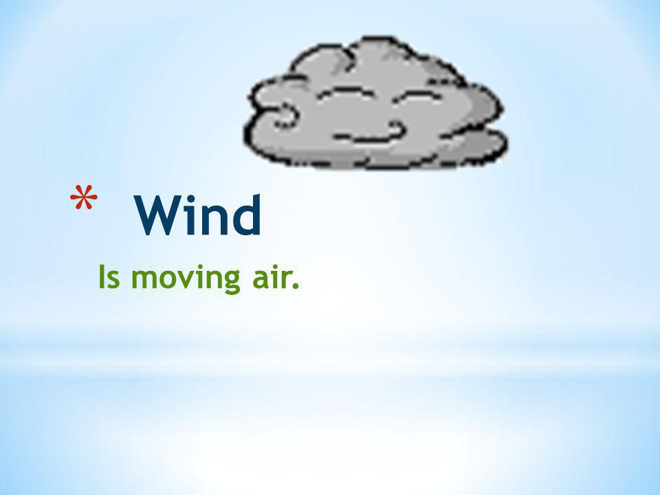 Wind Is moving air.