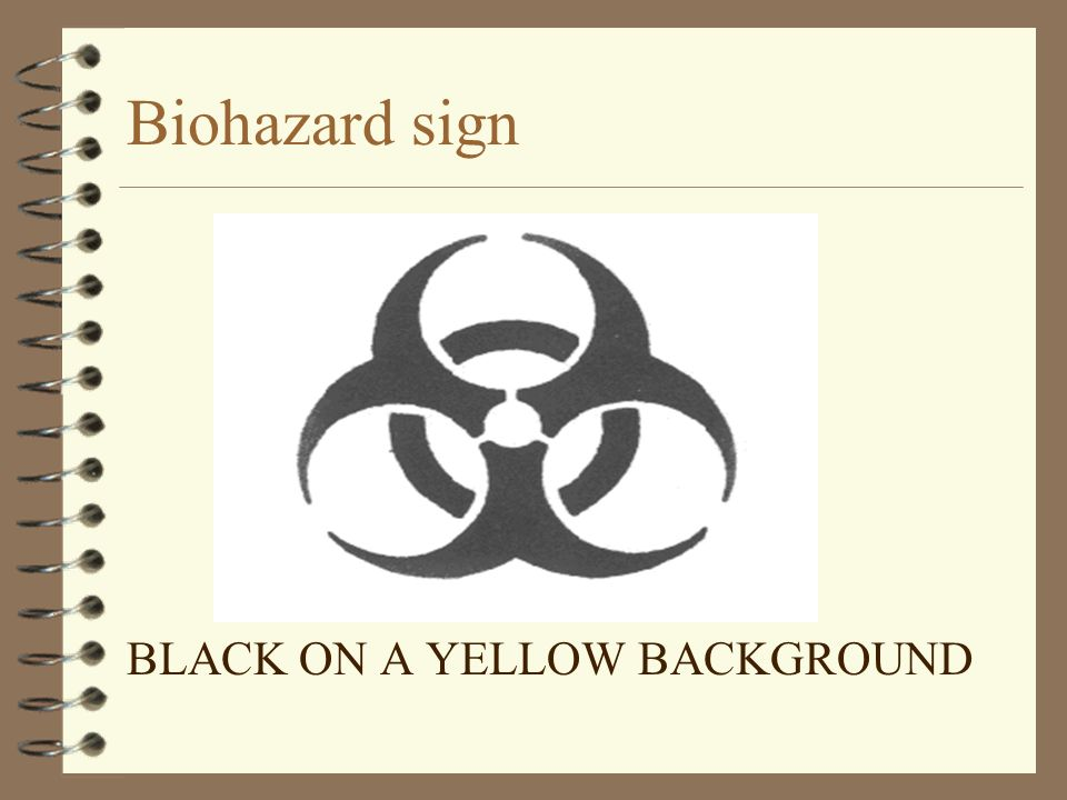 Biohazard sign BLACK ON A YELLOW BACKGROUND