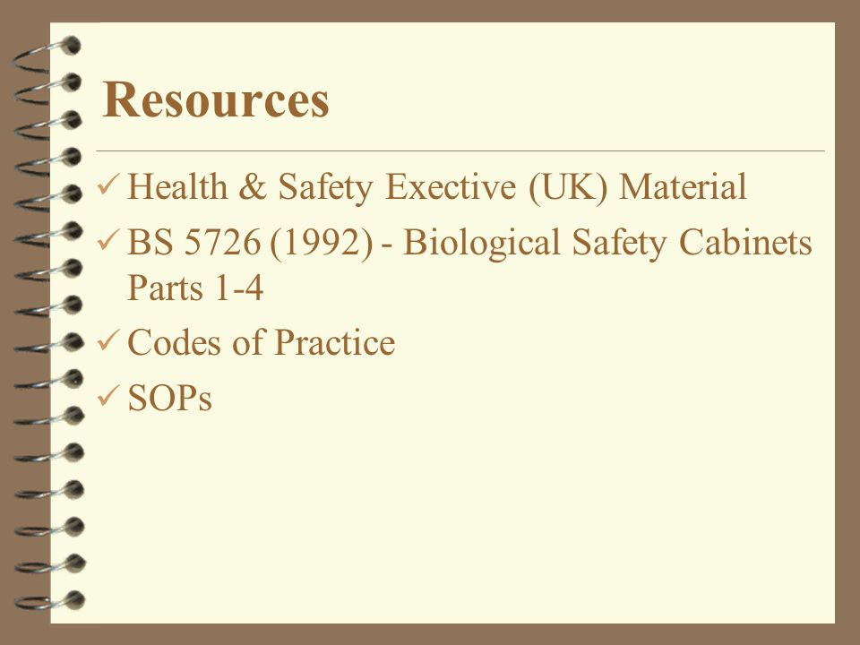 Resources Health & Safety Exective (UK) Material