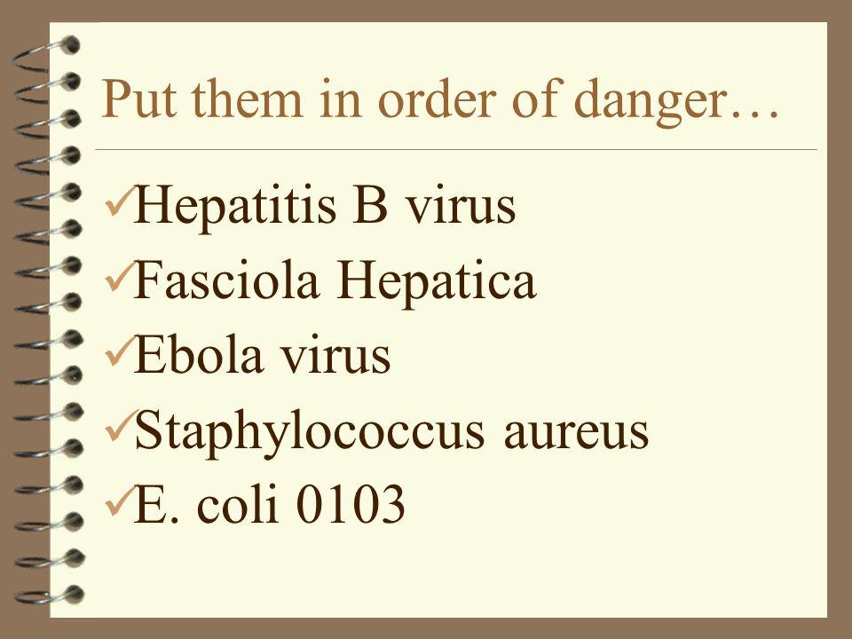 Put them in order of danger…