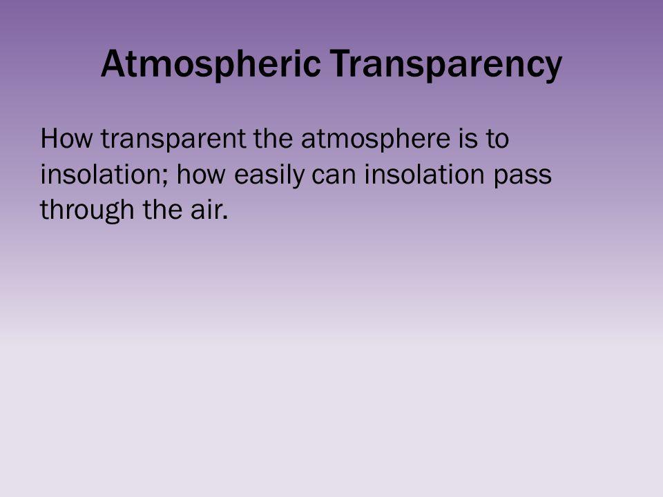 Atmospheric Transparency