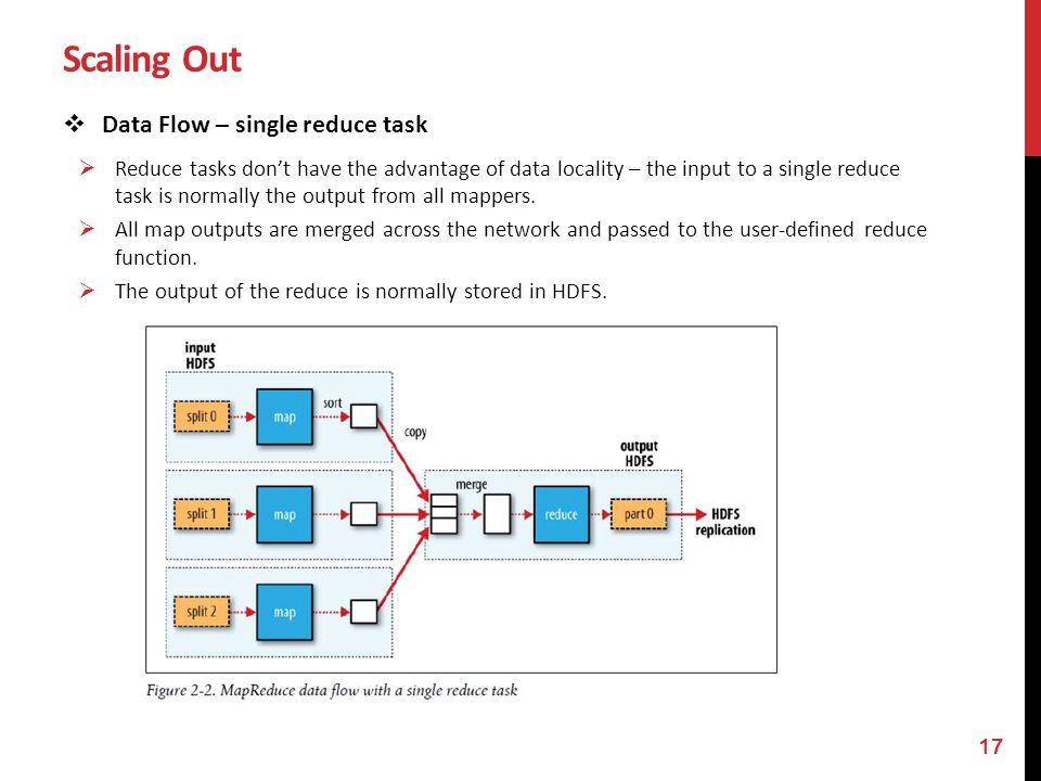 Scaling Out Data Flow – single reduce task