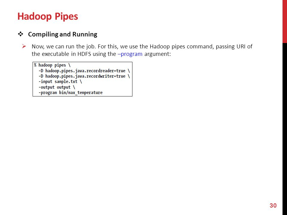 Hadoop Pipes Compiling and Running