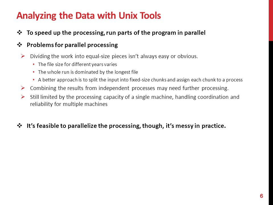 Analyzing the Data with Unix Tools