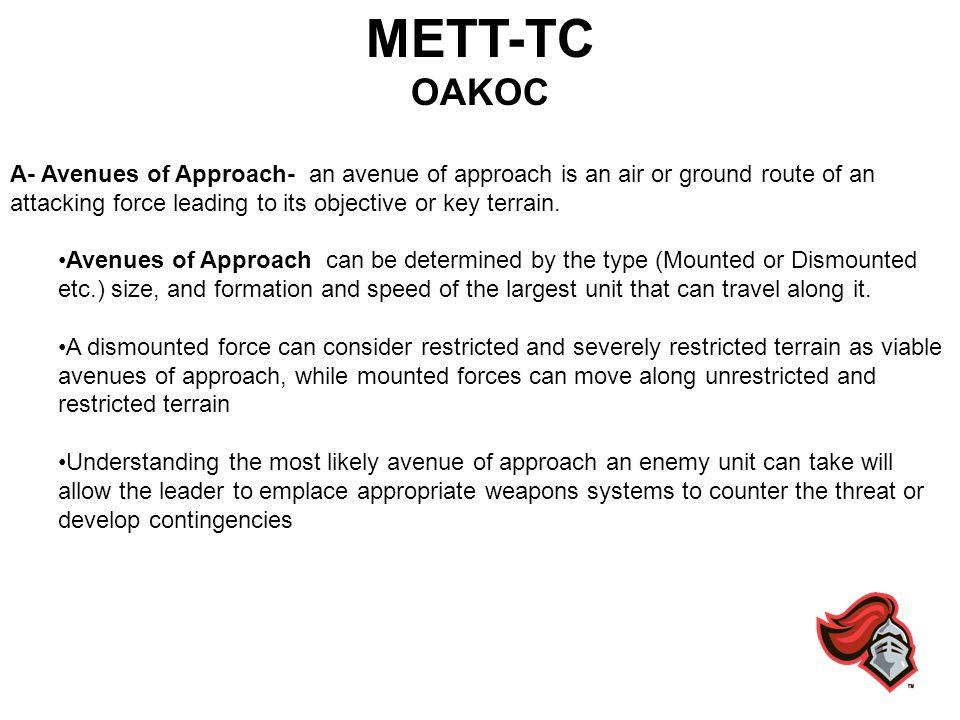 METT-TC OAKOC.