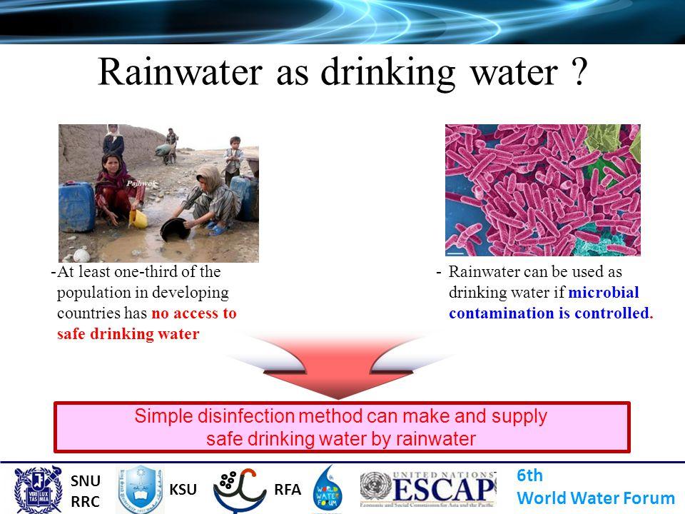 Rainwater as drinking water
