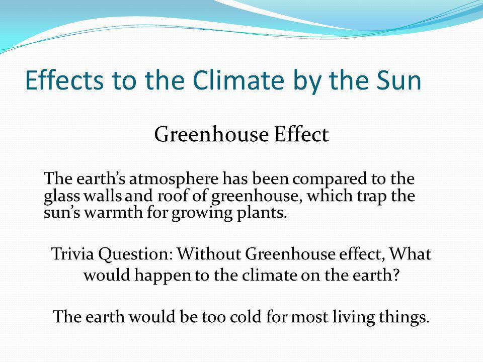 The growing concern over the greenhouse effect on earths climate