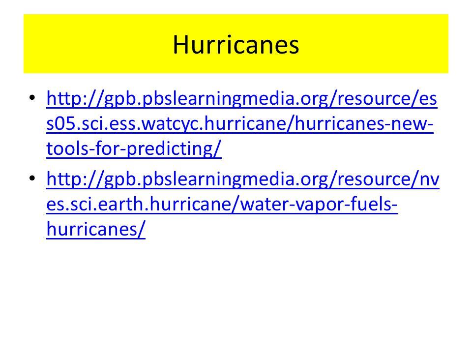 Hurricanes http://gpb.pbslearningmedia.org/resource/ess05.sci.ess.watcyc.hurricane/hurricanes-new-tools-for-predicting/