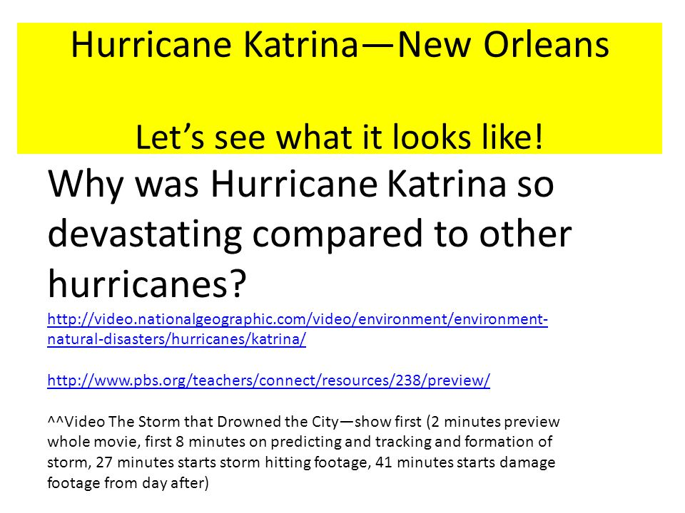 Hurricane Katrina—New Orleans Let's see what it looks like!