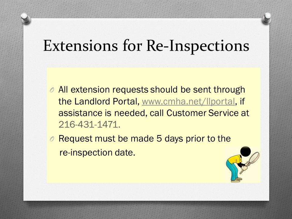 Extensions for Re-Inspections