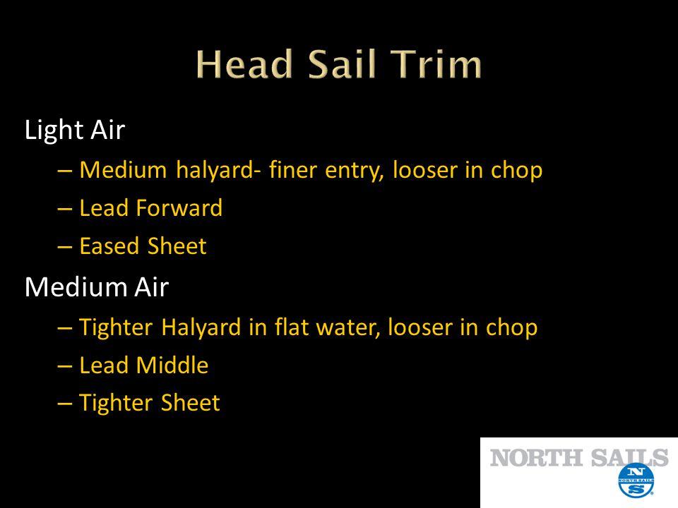 Head Sail Trim Light Air Medium Air