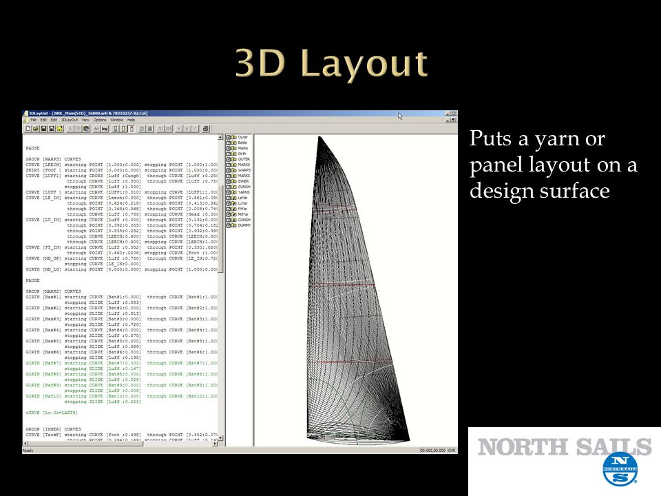 3D Layout Puts a yarn or panel layout on a design surface