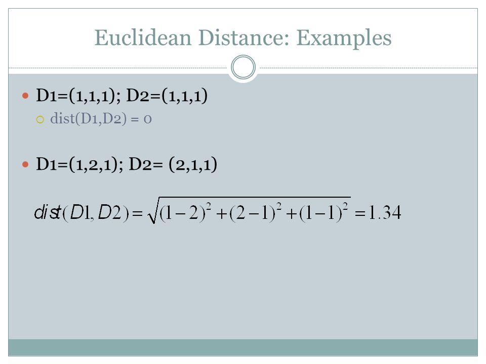 Euclidean Distance: Examples