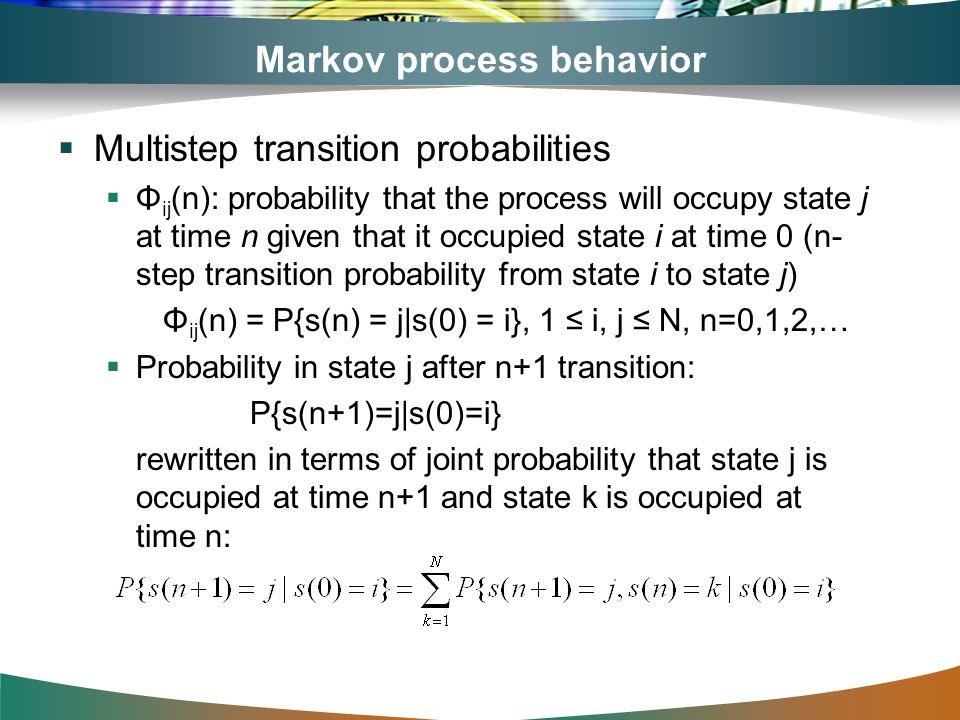 Markov process behavior