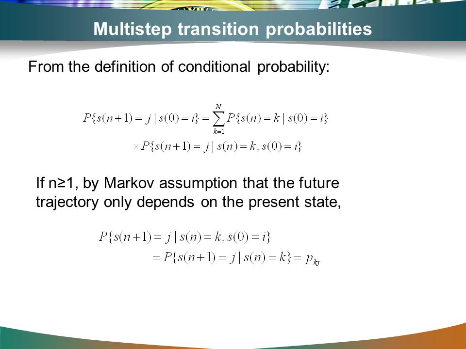 Multistep transition probabilities