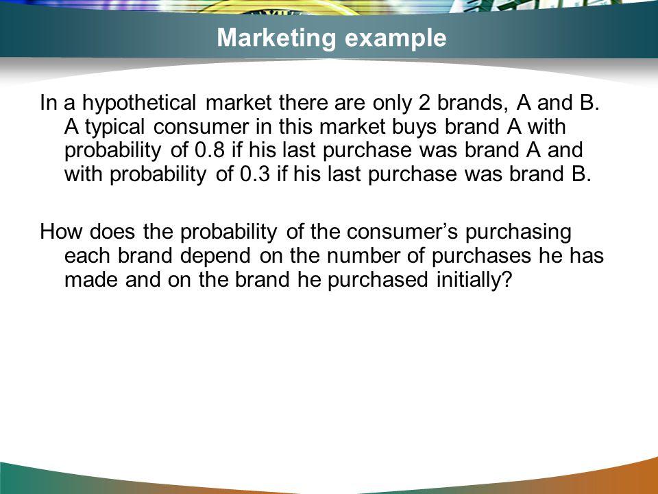 Marketing example