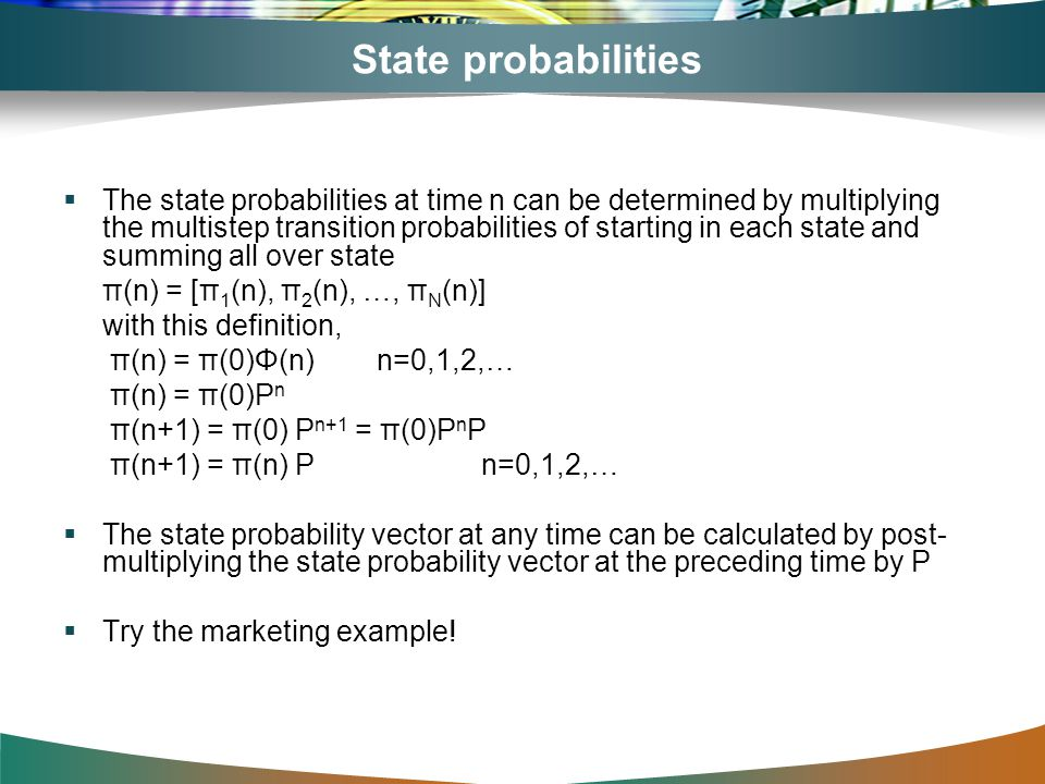 State probabilities