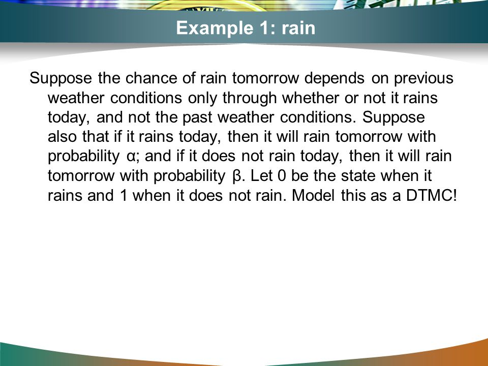 Example 1: rain