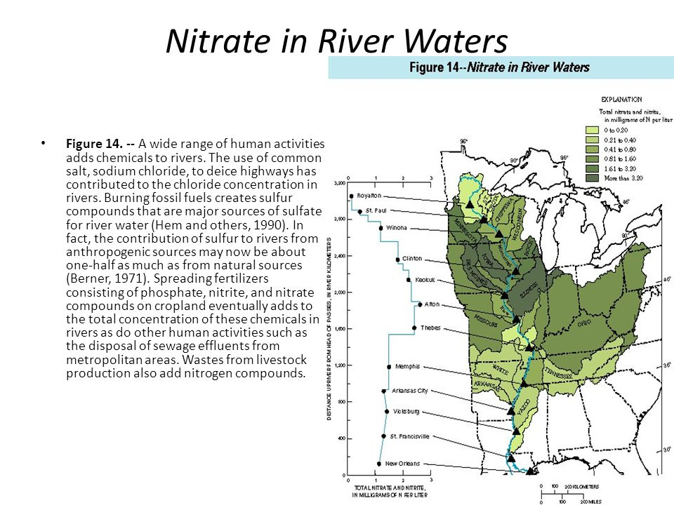 Nitrate in River Waters