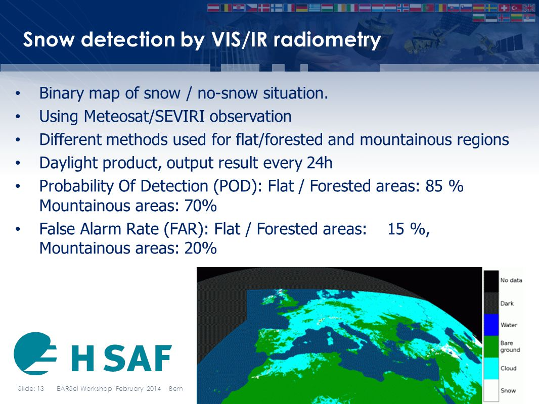 Snow detection by VIS/IR radiometry
