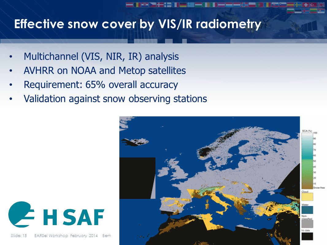 Effective snow cover by VIS/IR radiometry
