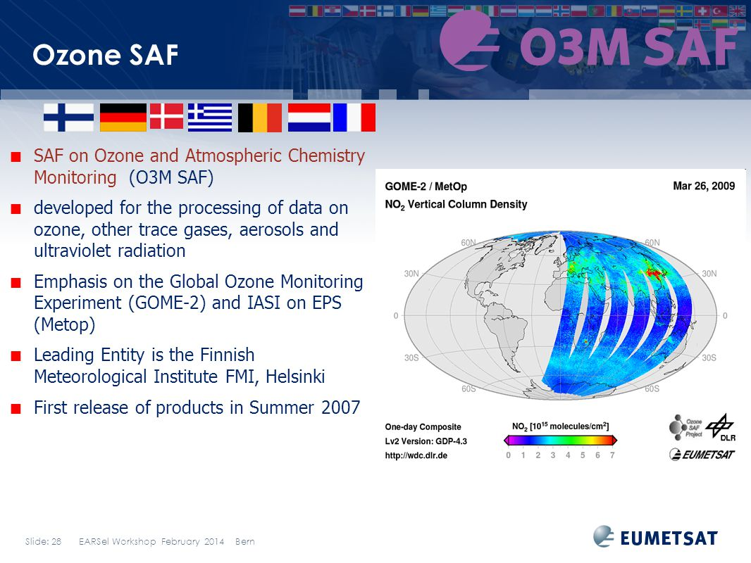 Ozone SAF SAF on Ozone and Atmospheric Chemistry Monitoring (O3M SAF)