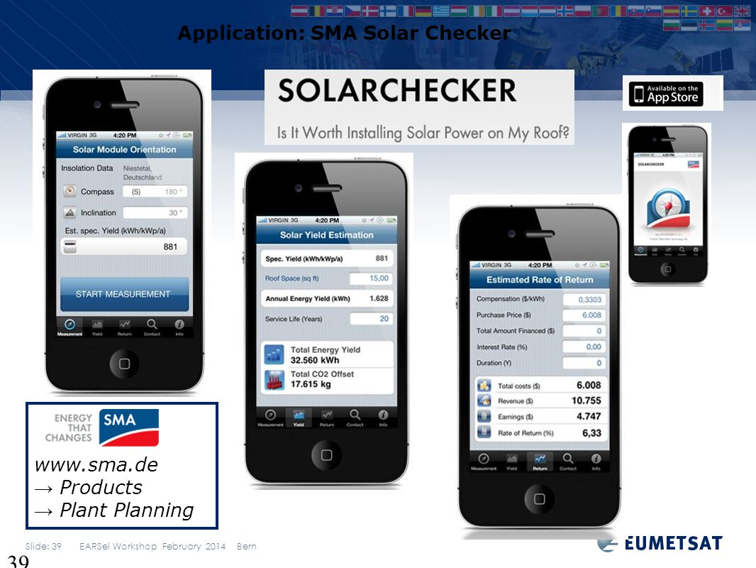 Application: SMA Solar Checker
