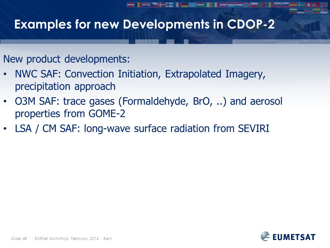 Examples for new Developments in CDOP-2