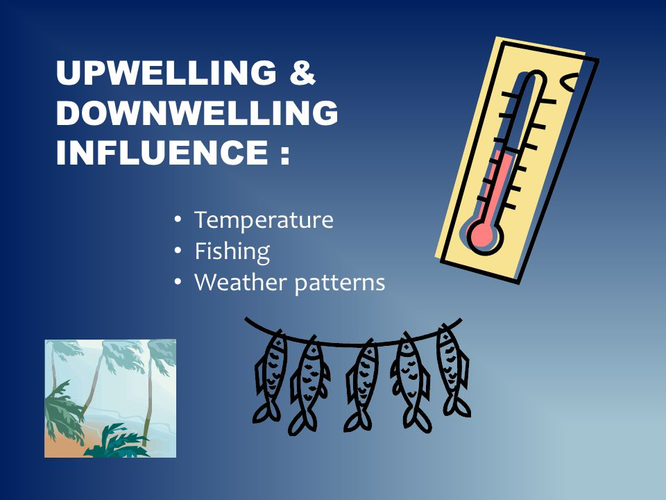 Upwelling & downwelling influence :