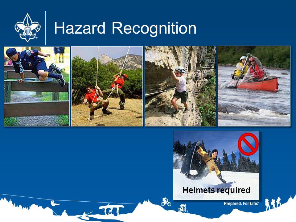 Hazard Recognition Helmets required