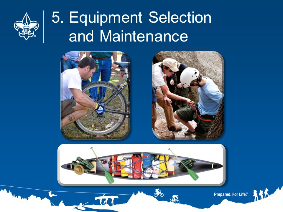 5. Equipment Selection and Maintenance