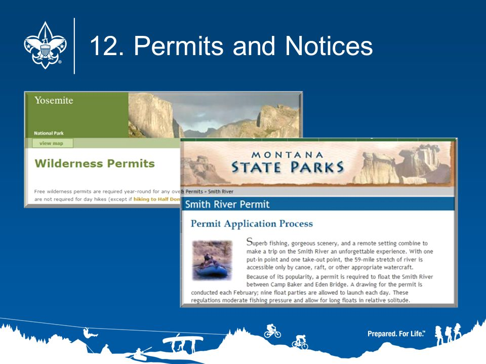 12. Permits and Notices