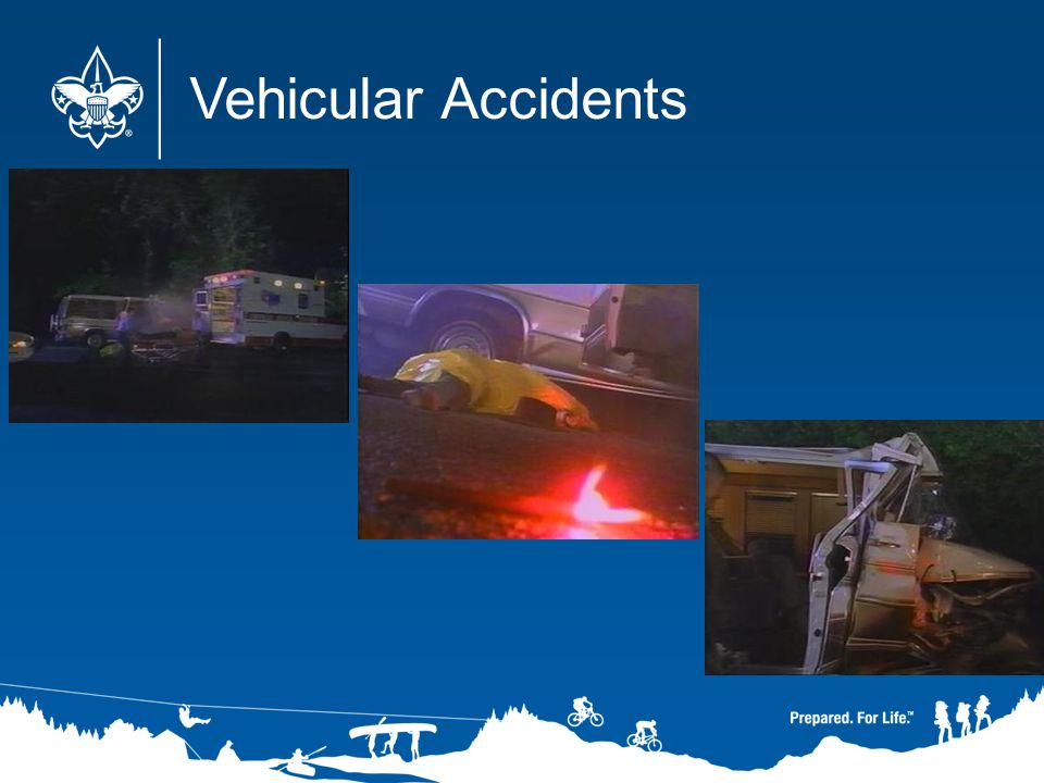 Vehicular Accidents Commentary: Let's briefly review some of the other information in the video, starting with car accidents. (Next slide.)