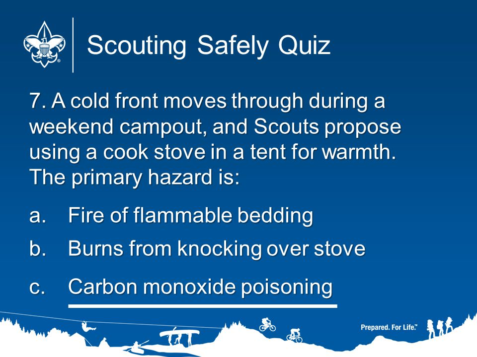 Scouting Safely Quiz