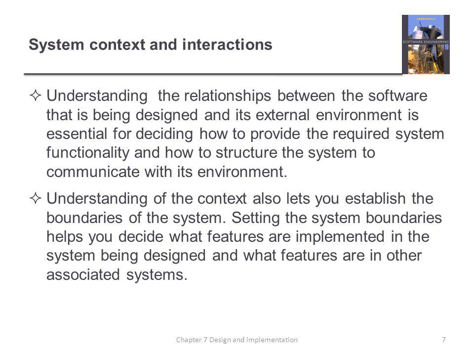 System context and interactions