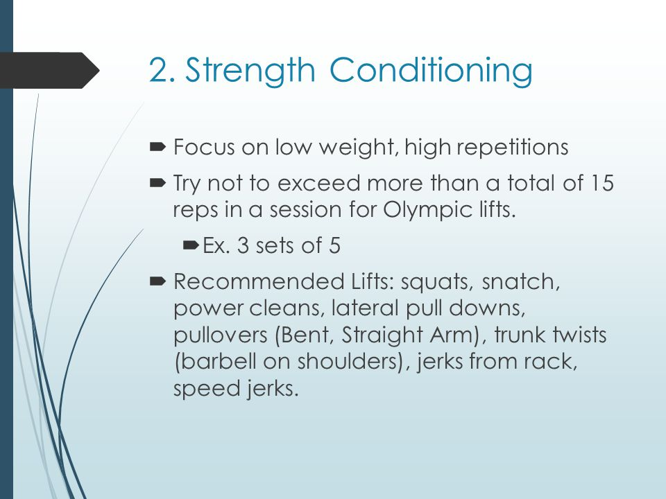 2. Strength Conditioning