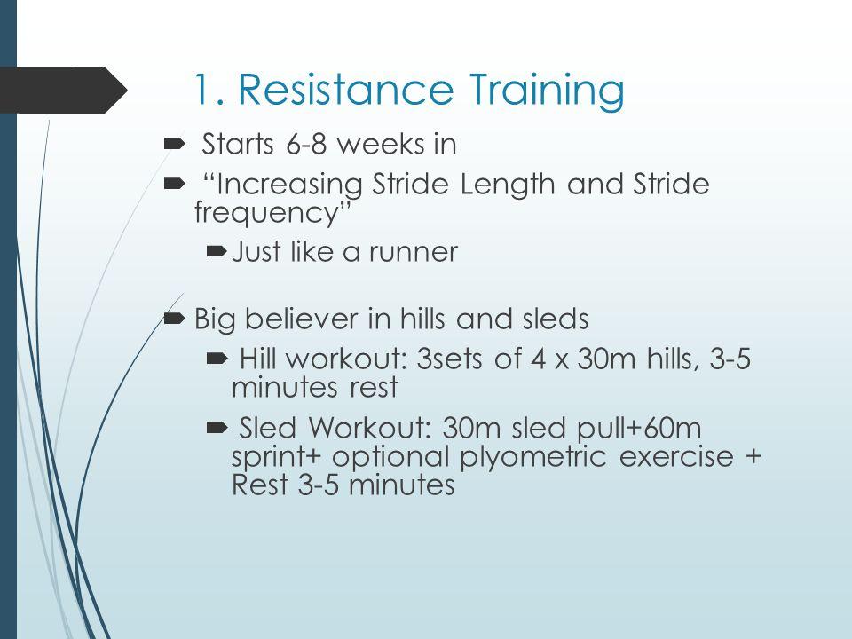 1. Resistance Training Starts 6-8 weeks in