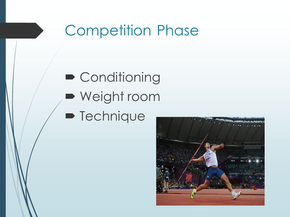 Competition Phase Conditioning Weight room Technique