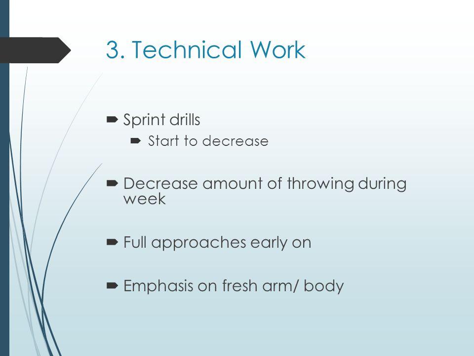 3. Technical Work Sprint drills