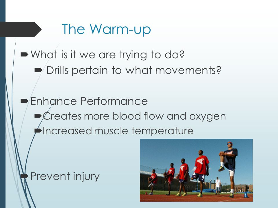 The Warm-up What is it we are trying to do