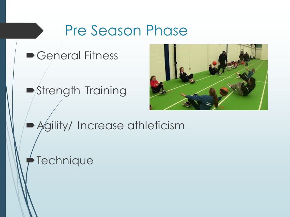Pre Season Phase General Fitness Strength Training