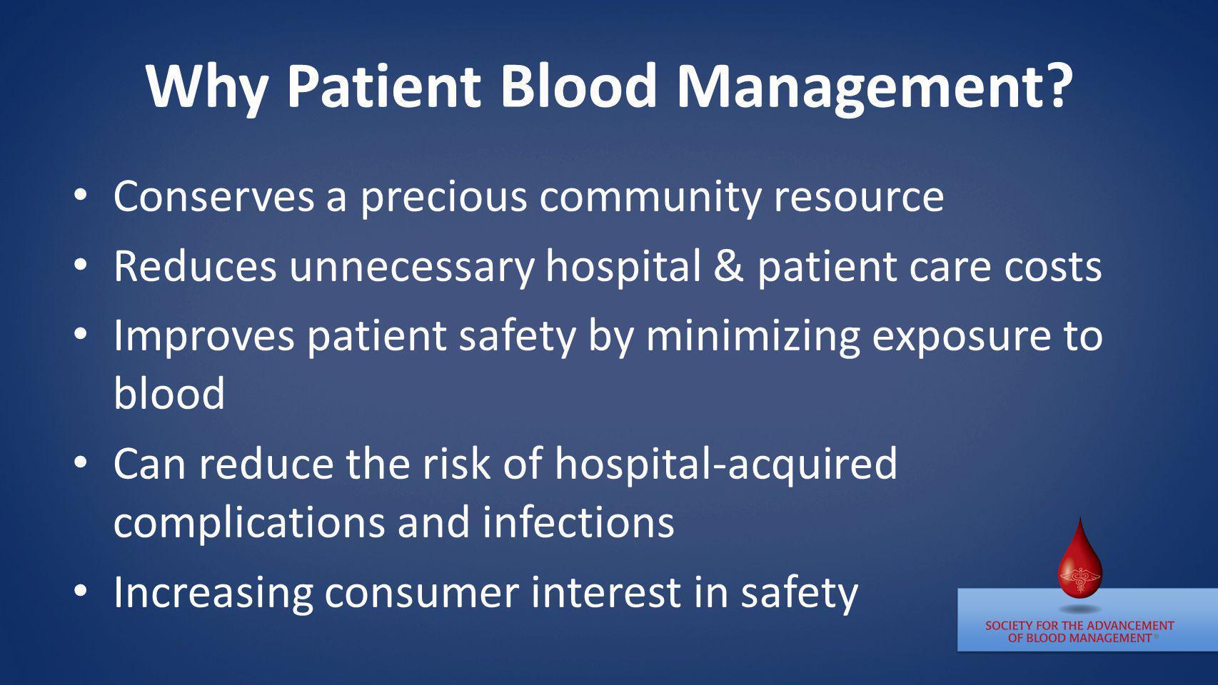 Why Patient Blood Management