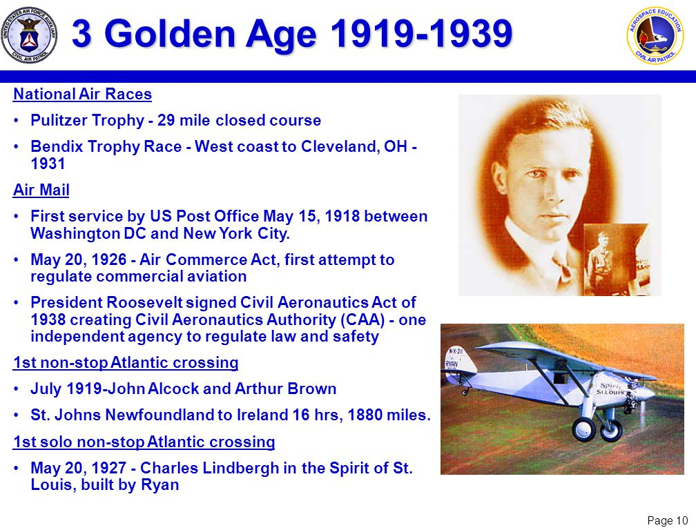 3 Golden Age 1919-1939 National Air Races