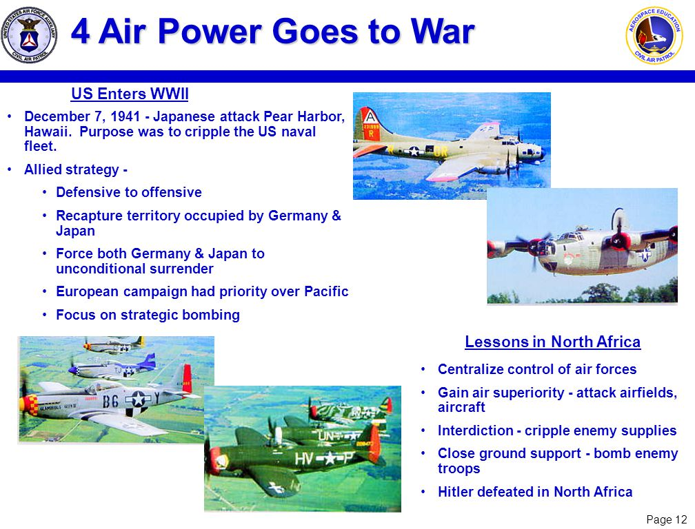4 Air Power Goes to War US Enters WWII Lessons in North Africa