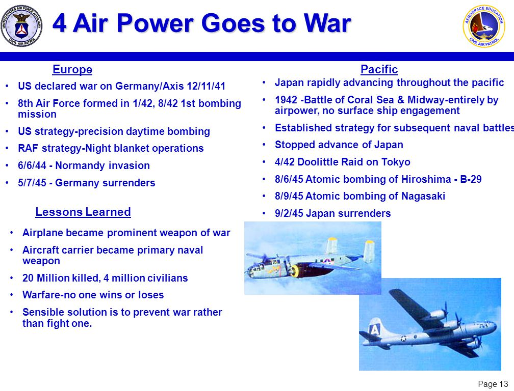 4 Air Power Goes to War Europe Pacific Lessons Learned