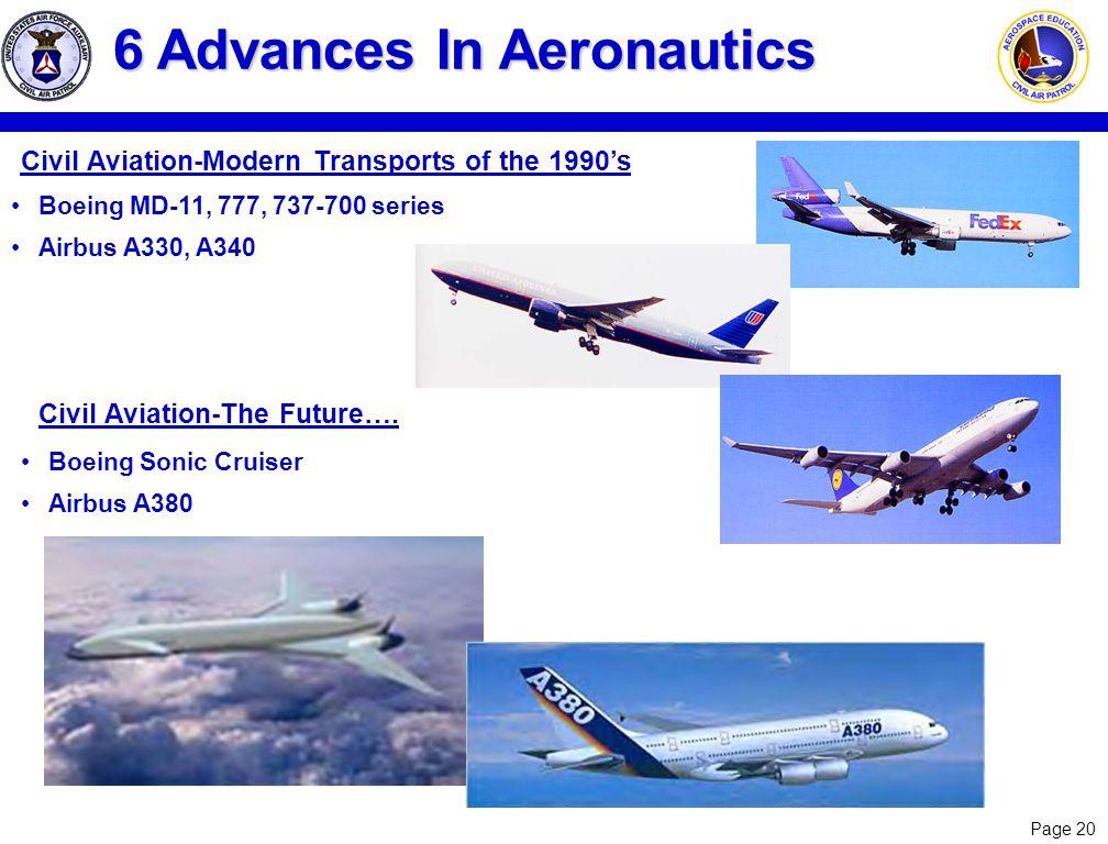 6 Advances In Aeronautics