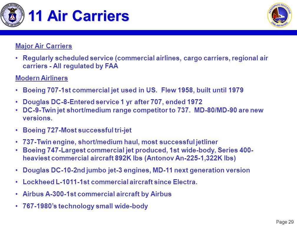 11 Air Carriers Major Air Carriers